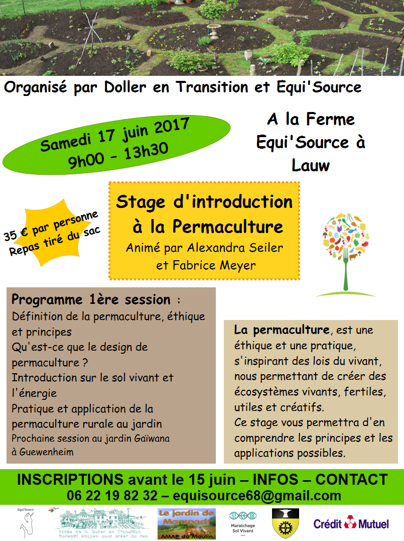 Affiche stage permaculture